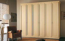 6-door wardrobe  Tarred finish with matching contouring