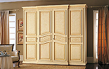 4-door wardrobe  Old Florence finish, matching colour wash