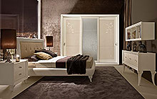 LTTOD2  bed / CDTODPF nightstand - DEMETRA  wardrobe with 3 sliding doors / CRTOD3F console table / LBTOD1  wall mounted bookcase / potod armchair