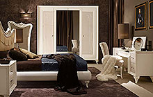 LTTOD5  letto . bed / CDTODPF nightstand / WARDROBE with 4 hinged doors / SPTOD3 mirror / contodF  onsole table / SE100 armchair