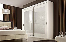 KASIA wardrobe with 2 sliding doors / LTTOD1 bed