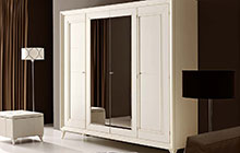 WARDROBE with 4 hinged doors / pRtod  pouff . pouffe